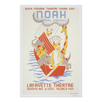 Noah & The Ark 1938 WPA Poster
