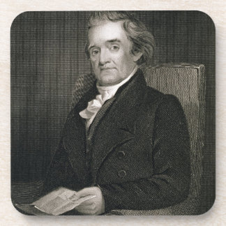 Noah Webster (1758-1843) engraved by Frederick W. Drink Coaster