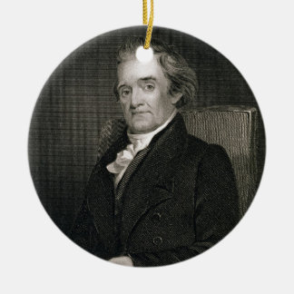 Noah Webster (1758-1843) engraved by Frederick W. Round Ceramic Decoration