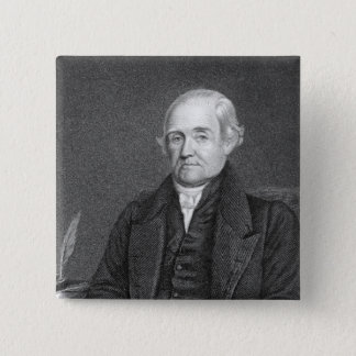 Noah Webster  engraved by G. Parker 15 Cm Square Badge
