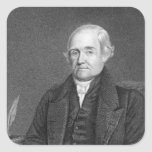 Noah Webster  engraved by G. Parker Square Sticker