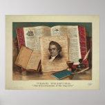 Noah Webster The Schoolmaster of the Republic Poster