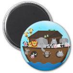 Noah's Ark 6 Cm Round Magnet
