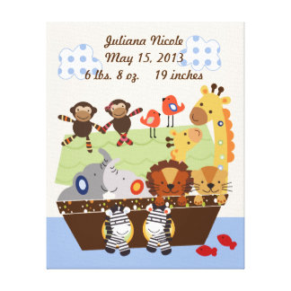 Noah's Ark/Animal Pairs Canvas Print