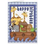 Noah's Ark Animals Boy Happy Birthday Card