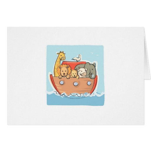Noah's Ark Baby Announcement Card