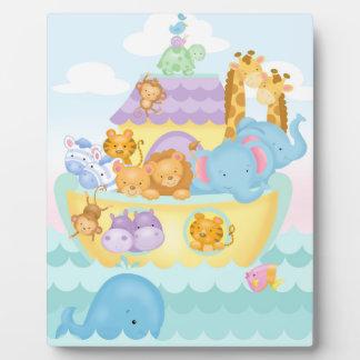 Noah's Ark Baby Easel Plaque