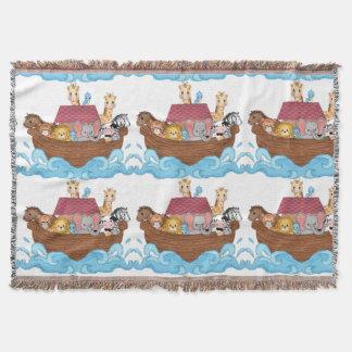 Noah's Ark Baby Nursery Crib Throw Blanket