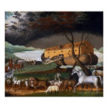 Noah's Ark by Edward Hicks - Circa 1846 Poster