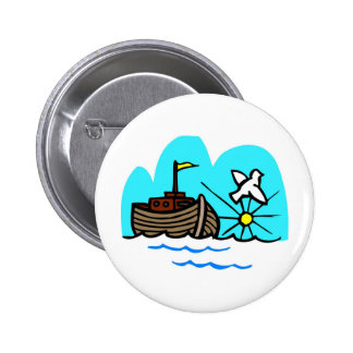 Noah's ark Christian artwork_1 6 Cm Round Badge