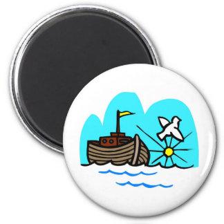 Noah's ark Christian artwork_1 6 Cm Round Magnet