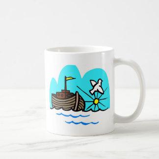 Noah's ark Christian artwork_1 Basic White Mug