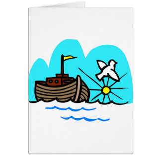 Noah's ark Christian artwork_1 Greeting Card