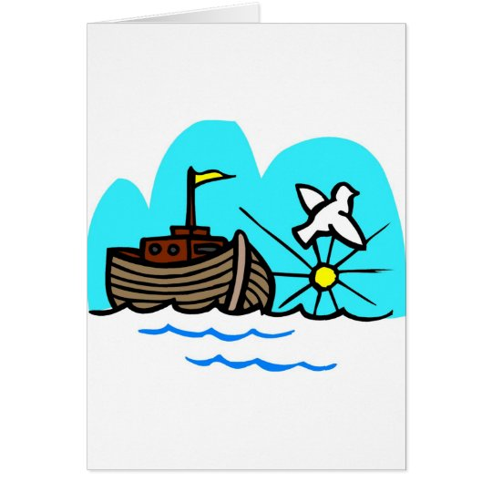 Noah's ark Christian artwork_1 Greeting Card