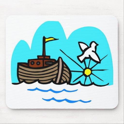 Noah's ark Christian artwork_1 Mousepad