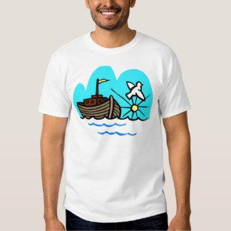 Noah's ark Christian artwork_1 T-shirts