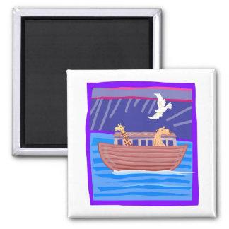 Noah's ark Christian artwork_2 Square Magnet