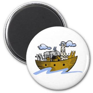 Noah's ark Christian artwork_3 6 Cm Round Magnet