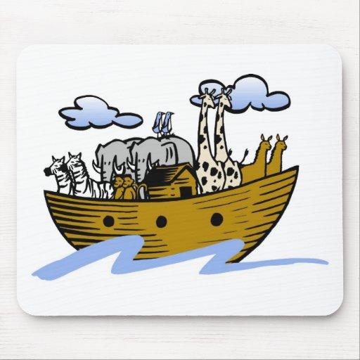 Noah's ark Christian artwork_3 Mousepad