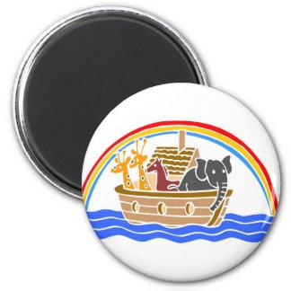 Noah's ark Christian artwork_4 6 Cm Round Magnet
