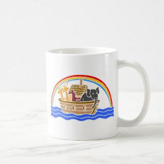 Noah's ark Christian artwork_4 Basic White Mug