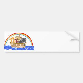 Noah's ark Christian artwork_4 Bumper Sticker