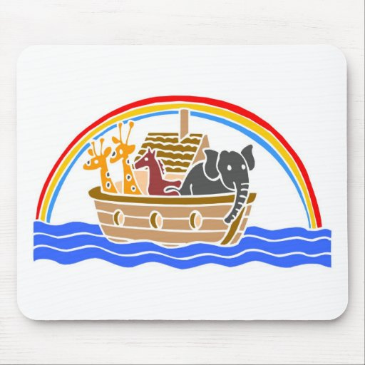 Noah's ark Christian artwork_4 Mousepad