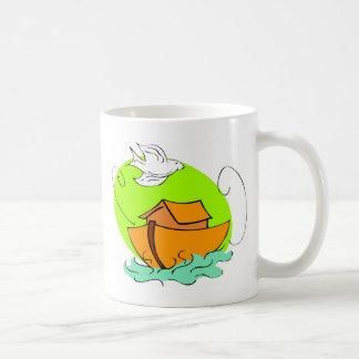 Noah's ark Christian artwork_5 Basic White Mug