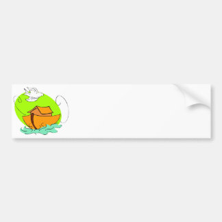 Noah's ark Christian artwork_5 Bumper Sticker