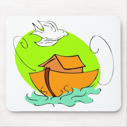 Noah's ark Christian artwork_5 Mouse Pads