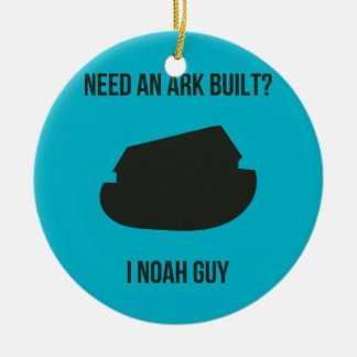Noah's Ark Christian Pun Christmas Ornament