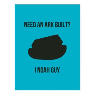 Noah's Ark Christian Pun Postcard