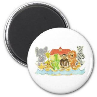 Noah's Ark Critters 6 Cm Round Magnet