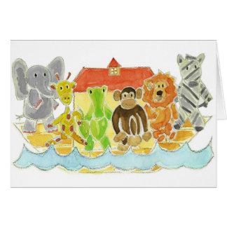 Noah's Ark Critters Greeting Card