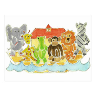Noah's Ark Critters Post Card