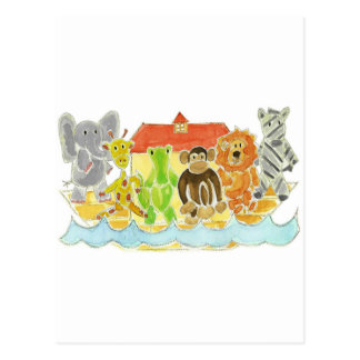 Noah's Ark Critters Postcard