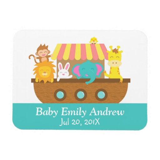 Noah's Ark, Cute Animals, Baby shower Party Favor Magnets