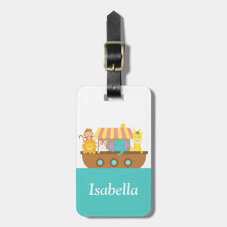 Noah's Ark, Cute Animals, for kids Bag Tag