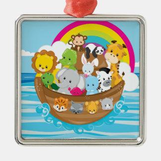 Noahs Ark Cute Animals Toddlers Fun Design Christmas Ornament