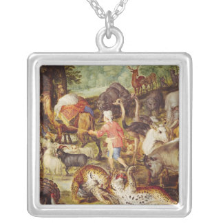 Noah's Ark, detail of the right hand side Silver Plated Necklace