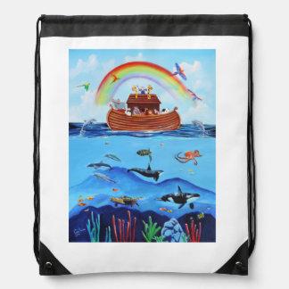 Noah's Ark Drawstring Bag