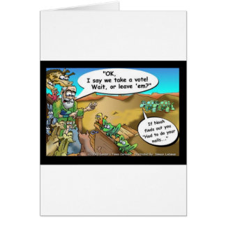"""Noah's Ark"" Funny Cartoon Tees Gifts Collectibles Card"