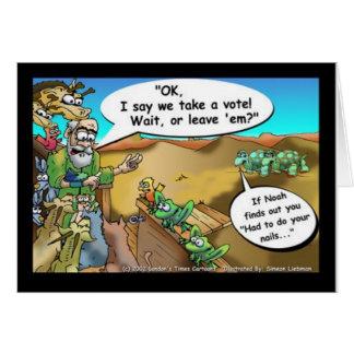 """Noah's Ark"" Funny Cartoon Tees Gifts Collectibles Greeting Card"