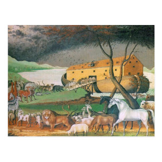 noahs ark greeting postcard