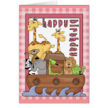 Noah's Ark Happy Birthday Cards