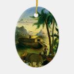Noahs Ark, Hidley, Vintage Victorian Religious Art Ornament