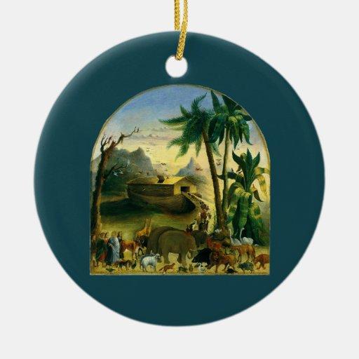 Noahs Ark, Hidley, Vintage Victorian Religious Art Christmas Ornament