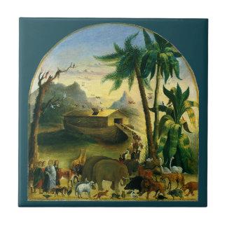 Noahs Ark, Hidley, Vintage Victorian Religious Art Ceramic Tiles