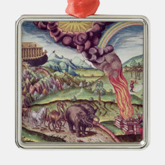 Noah's Ark, illustration from 'Brevis Narratio' Christmas Ornament