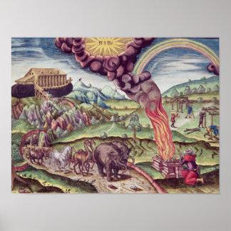 Noah's Ark, illustration from 'Brevis Narratio' Poster